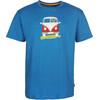 Elkline Methusalem Short Sleeve Shirt Men Riviera Blue